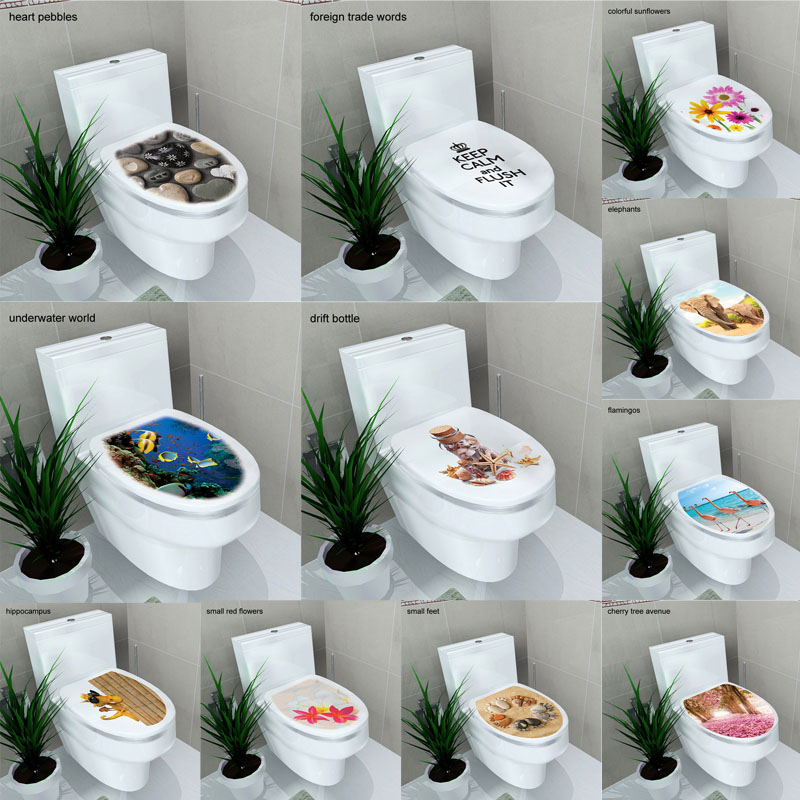 sticker WC cover toilet pedestal toilets stool toilet lid sticker WC home decoration Waterproof bathroom Accessories