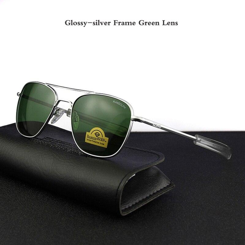 Image 5 - Pilot USA.RE Sunglasses Men Top Quality Brand Designer RANDOLPH AGX Tempered Glass Lens AO Sun Glasses Male YQ1006-in Men's Sunglasses from Apparel Accessories