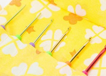 Home Sewing KIT Crochet Hooks Yarn Craft Knitting Needles Sewing Bag Pencil Case for TULIP CLOVER ADDI image
