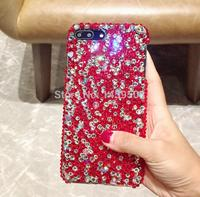For Samsung Galaxy S3 S4 S5 S6 S7 Edge S8 S9 Plus Note 2 3 4 5 8 9 G530 Rhinestone Case Full Red Diamond Cover