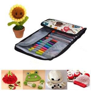 Image 5 - Набор крючков для вязания KOKONI, набор вплетать в пряжу спицы, измерительные ножницы для вязания, Швейные аксессуары, инструменты для изготовления подарка «сделай сам» с сумкой для хранения