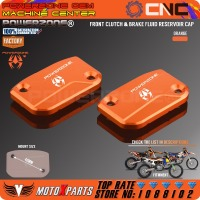 CNC Front Clutch Brake Fluid Reservoir Cover Cap For KTM SX SXF SMR EXC EXC F