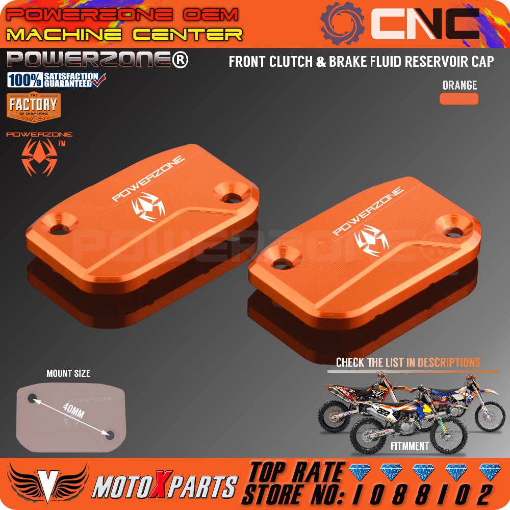 CNC Front Clutch Brake Fluid Reservoir Cover Cap For KTM SX SXF SMR EXC EXC-F XC XC-W XC-F Enduro MX 125-530 250 350 450 525 motorcycle front rider seat leather cover for ktm 125 200 390 duke