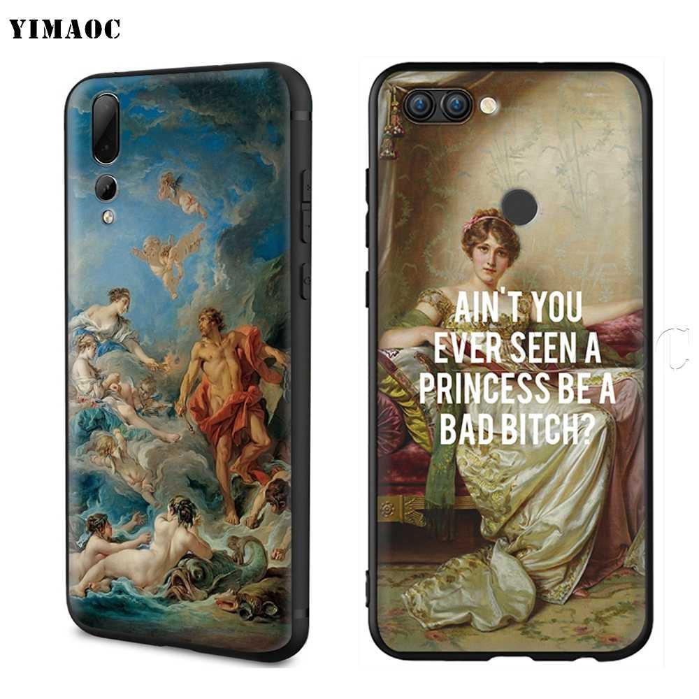 Funda estética de flores de pintura clásica YIMAOC para Huawei Mate 20 Honor 6a 7a 7c 7x 8c 8x9 10 nova 3i 3 Lite Pro Y6 P30 P smart