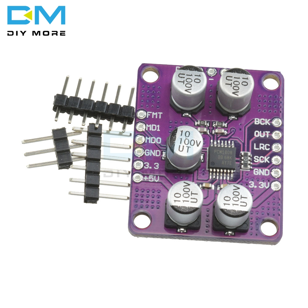PCM1808 105dB SNR Audio Stereo ADC Single-Ended Analog-Input Decoder 24bit Amplifier Board