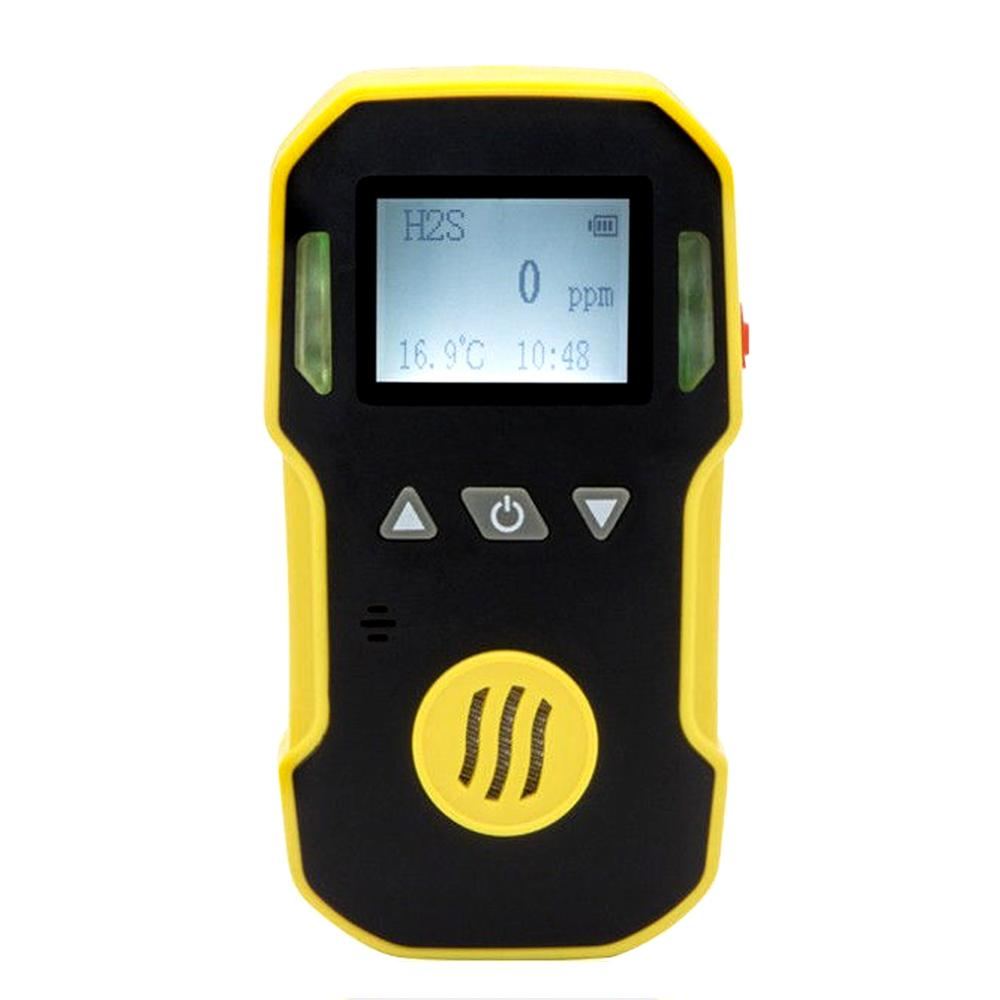 Hydrogen Sulfide Gas Detector Single-gas Leak Detector H2S Monitor With Sound Light Poisonous Harmful Alarming DeviceHydrogen Sulfide Gas Detector Single-gas Leak Detector H2S Monitor With Sound Light Poisonous Harmful Alarming Device