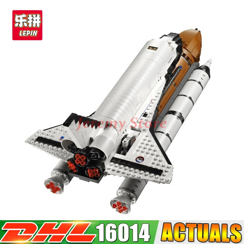 Фотография 2017 LEPIN 16014 1230Pcs 16014 out of print Shtttle Expedition Spaceship 10231 Lepin Buliding Blocks Bricks Educational Toys