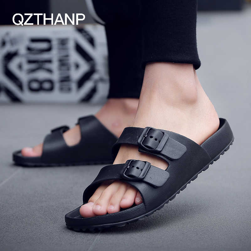 Male Slippers Summer Beach Slippers Men Shoes Men Flats Sandals Casual Men's Shoes Thicken Anti Slip Open Toe Flip Flops