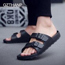 цена на Male Slippers Summer Beach Slippers Men Shoes Men Flats Sandals Casual Men's Shoes Thicken Anti Slip Open Toe Flip Flops