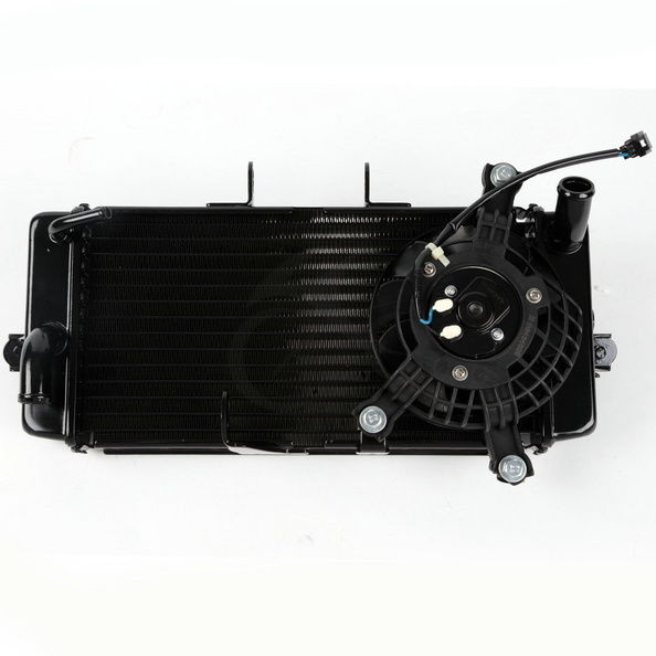 цены New Motorcycle Aluminum Radiator Cooler With Fan For SUZUKI GW250 2012-2014 2013