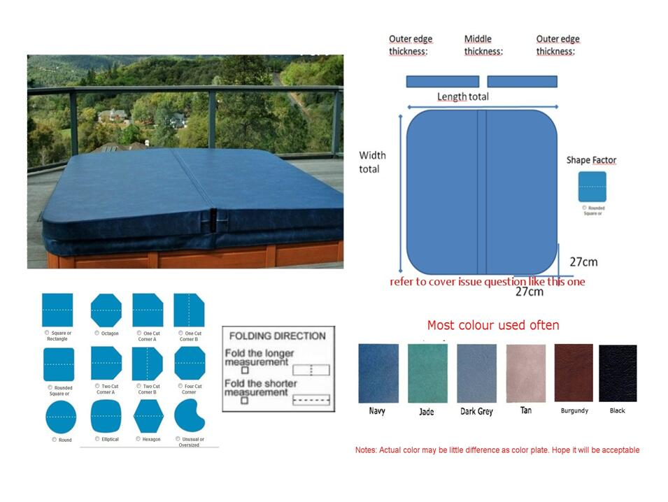 Any size hot tub spa cover leather skin vinyl can be customized for Favourite spa