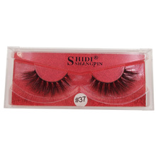 SHIDISHANGPIN  3d mink false eyelashes 1 pairs natural long hand made lashes 3D makeup box