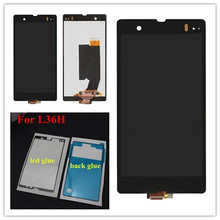 For Sony Xperia Z LCD Display With Glass Touch Screen Assembly For Sony C6602 LCD For Xperia C6603 c6606 Display Touch все цены