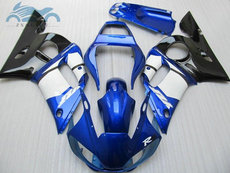 Kits de carénage de moto pour YAMAHA R6 YZFR6 1998-2002 YZF R6 98 99 00 01 02 carénages de sport en plastique ABS carrosserie bue noir EB15