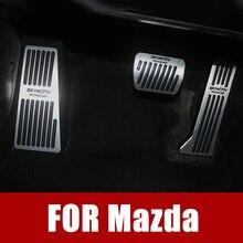 Auto Acceleratore Pedale del Freno Poggiapiedi Pedali Piastra di Copertura Per Mazda 3 6 CX-5 CX5 CX-3 2017 2018 CX-8 CX-9 Axela ATENZA Accessori
