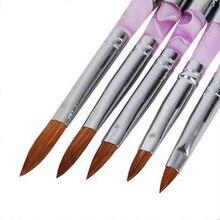 5pcs Acrylic Nail Art Pen Brush UV Gel Painting Drawing Polish Builder Set Tool