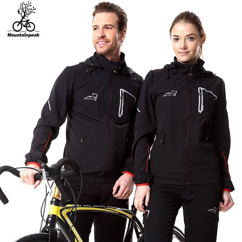Prix pour Mountainpeak 2017 Printemps & Automne étanche à la pluie coupe-vent souffle vélo définit veste à manches longues vélo équitation manteau pantalon ensemble hommes femmes