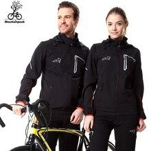 Mountainpeak 2017 spring & autumn aliento conjuntos ciclismo chaqueta impermeable a prueba de viento bicicleta de manga larga coat pantalones set hombres mujeres