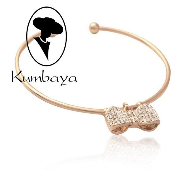 Baya A E Fashion Crystal Bangles Bracelets Bowknot Styles Open Alloy Cute