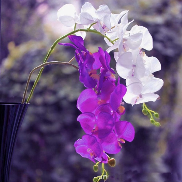 1 Pcs Wedding Artificial Butterfly Orchid Flower For Wedding