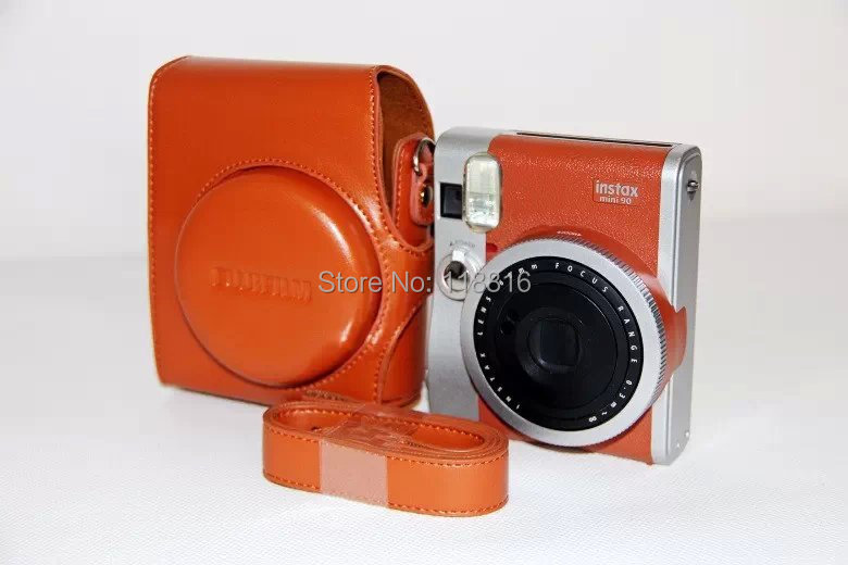 Super soft leather camera case bag cover pouch Finepix Fuji Fujifilm Instax mini90 mini 90 - VIVIANTEAM GO Co., LTD store