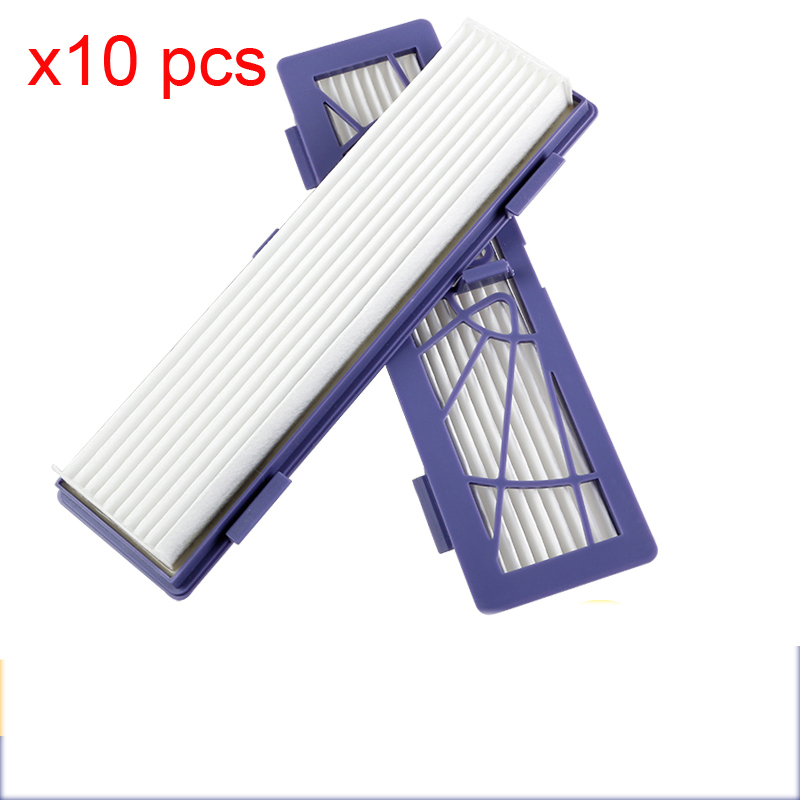 10 pcs HEPA filters for Neato Botvac D/Connected Series D7 D80 D85 D3 D75 D5 70e 75 80 85 Vacuum Cleaner Parts Pets/Allergies(China)