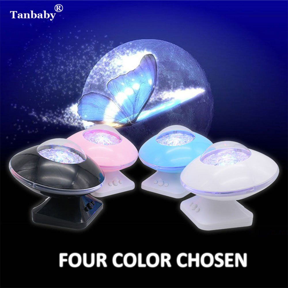 Tanbaby Cosmos Projector 45 Degree Rotation Aurora Night Light Color Changing UFO Speaker For Baby Kids Adults Relax DJ DMX tanbaby multicolor ocean wave led projector night light with built in music player and remote control for baby kids children
