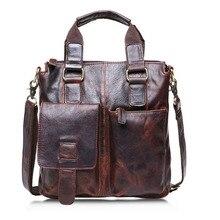 male Genuine Leather computer Handbags Men Shoulder Bags Mes