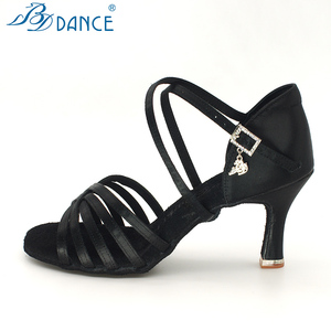Image 4 - BDDANCE Latin Dance Shoes Authentic Lady Adult New High Heel Soft Bottom National Standard Practice Sandals Diamond bayonet 216