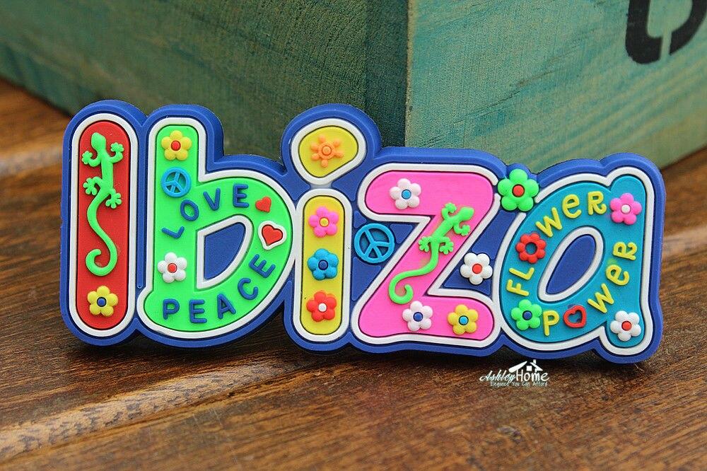 Ibiza wall lizard, Spain Tourist Travel Souvenir Letters Rubber Fridge Magnet