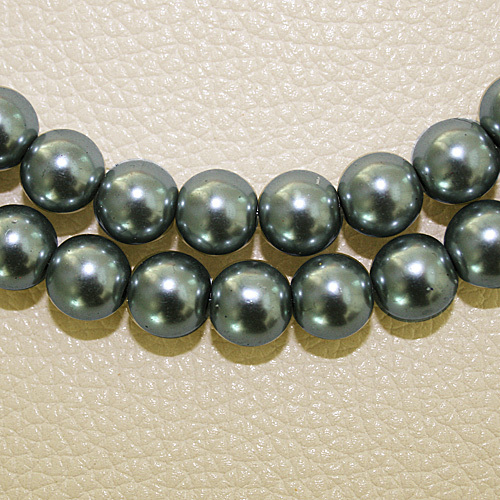 8 мм 30 шт белый черный зеленый фиолетовый Круглые Стеклянные Перламутровые Бусины много цветов на выбор PS-BBD012 - Цвет: Gray