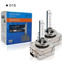 SUKIOTO مصباح أمامي زينون أصلي D3S 42403 D1S 85415 35W ، مصباح أمامي ، رؤية فائقة ، 55W D1 D3 ، لمبة بديلة عالية الجودة