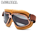 5 Colors Copper Plated Frame Vintage Harley Goggles Glasses For Open Face Helmet Retro Motorcycle Half Helmet Eyewear