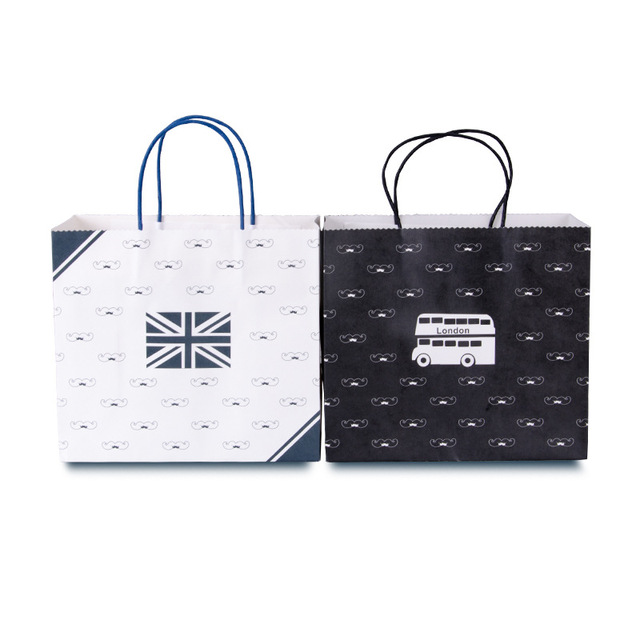 British Style Printing Gift Bags Handbags Valentines Day Mothers