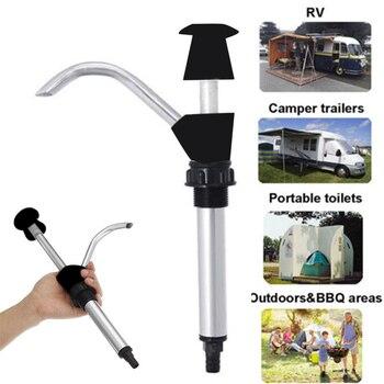 Black Alloy Water Pump Caravan Sink Water Hand Self Priming Pump Easy To Install Tap Camping Trailer Motorhome Faucet 32mm