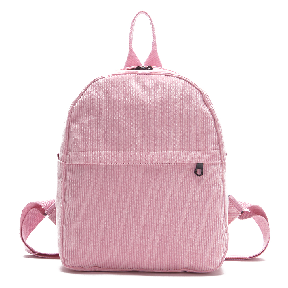 Women Casual Corduroy Backpack Girls Simple Preppy Chic School Bag Female Pink Shoulder Bag Travel Rucksack Mochila Escolar vintage casual small women printing backpack ladies casual preppy style school bag teenager girls female travel rucksack mochila