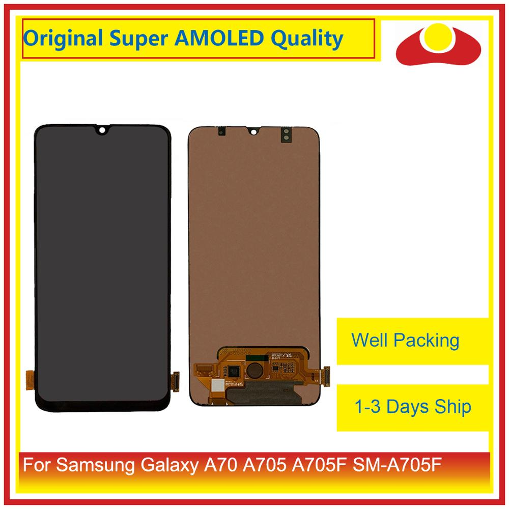"""Оригинал 6,7 """"для samsung Galaxy A70 A705 A705F SM A705F A7050 ЖК дисплей с сенсорным экраном дигитайзер панель Pantalla полный-in ЖК-экраны для мобильного телефона from Мобильные телефоны и телекоммуникации"""