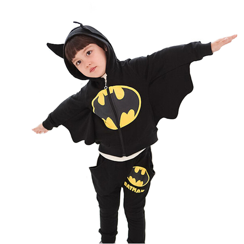 2017 Children Clothing Sets Batman Kids Hoodies + Pants Baby Boys Clothes Kids Sports Suit Boys Clothing Set 2017 new boys clothing set camouflage 3 9t boy sports suits kids clothes suit cotton boys tracksuit teenage costume long sleeve