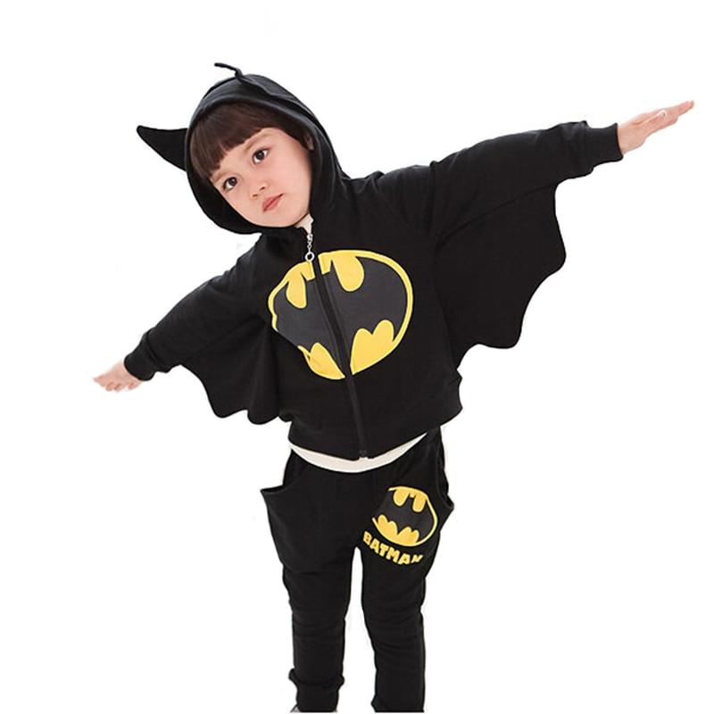 2017 Children Clothing Sets Batman Kids Hoodies + Pants Baby Boys Clothes Kids Sports Suit Boys Clothing Set