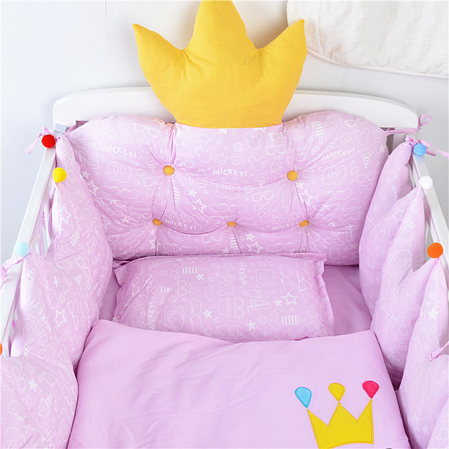 Nordic Style Baby Cotton Embroidered Bedding Set Bed Four Seasons  Baby Bedding Ten Sets Bed Bumper 2