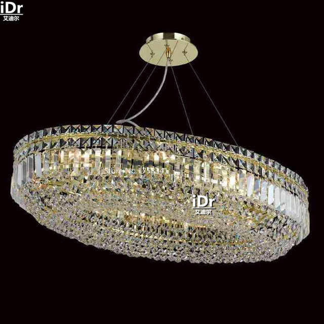 Kronleuchter Bleikristallglas Lampe Gold Einfache Zimmer Lampe Mode  Kristall Lampe, 83 Cm W X 53