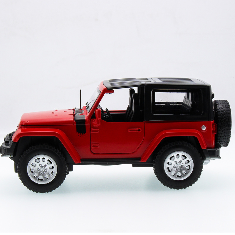 2017 Hot sell 1:32 SUV Wrangler Diecast Alloy Metal Luxury Jeep Car Model Collection Model Pull Back Toys Car Gift For Boy