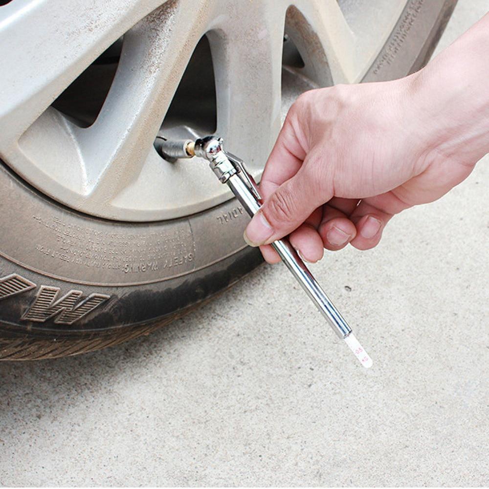 프랜차이즈 연필 펜 스타일 트럭 자동차 자동차 타이어 압력 게이지 10-100 psi 공기 미터 최고 품질 타이어 압력 14*2*0.8cm
