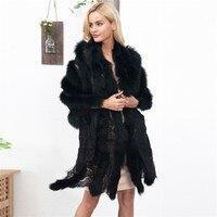 Lanshifei Faux Fur Cape Lace Splice Fur Scarf Sexy Lady Imitation Mink Fur Fox Fur Collar Poncho Cape Bridal Wedding Dress Shawl