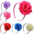 New 2014  satin mesh flower bands girls headband  kids baby girl Headwear children hair accessories