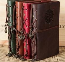 Дешевые Классическая тетрадь новые дневник Винтаж пират якоря Искусственная кожа Note Book сменный Рождественский подарок Traveler журнал