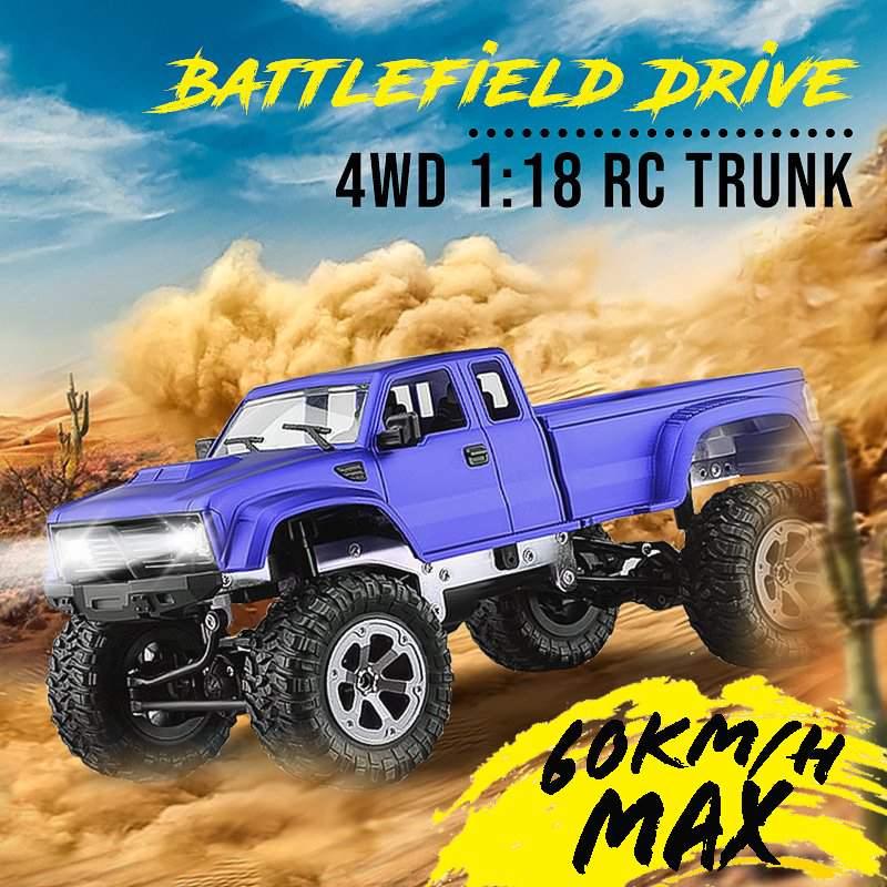 Voiture chaude RC 2.4 ghz 1:18 voiture télécommandée RC monstres électriques 4WD quatre roues véhicule tout-terrain rouge/bleu