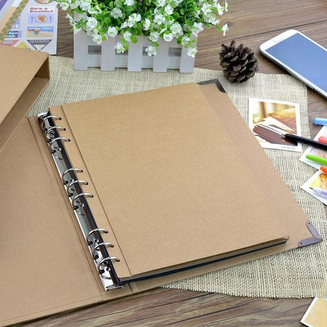 30 หน้า Blank/หลวมอัลบั้มรูปของ Scarpbook ทำด้วยมือ/งานแต่งงาน/DIY/Self - Adhesive/ กระดาษภาพปกอัลบั้มคราฟท์สำหรับรูปภาพ