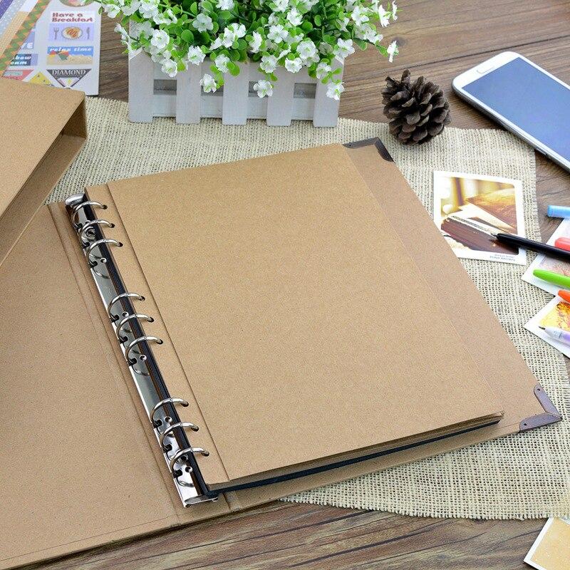 30Pages Blank/Loose-leaf Photo Album Scarpbook Handmade/Wedding/DIY/Self-Adhesive/Paper Photo Album Cover Kraft Album For Photos