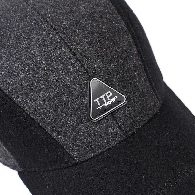 2dd1bfca88f7 € 8.14 |Moda invierno peludo hombres Viseras gorra sombreros para hombres  proteger los oídos invierno mantener caliente imitar Piel de visón ...